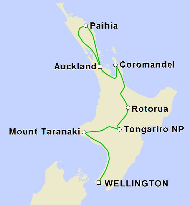 11 Day 'Fascinating North Island' Self-Drive Tour